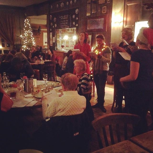 Christmas Carols at our Senior Citizens dinner! #Christmas #carols #seniorcitizens #xmas #dinner #roast #turkey #pub #singing #bar #stroudgreen #crouchend #finsburypark #london #northlondon #londonpub #local