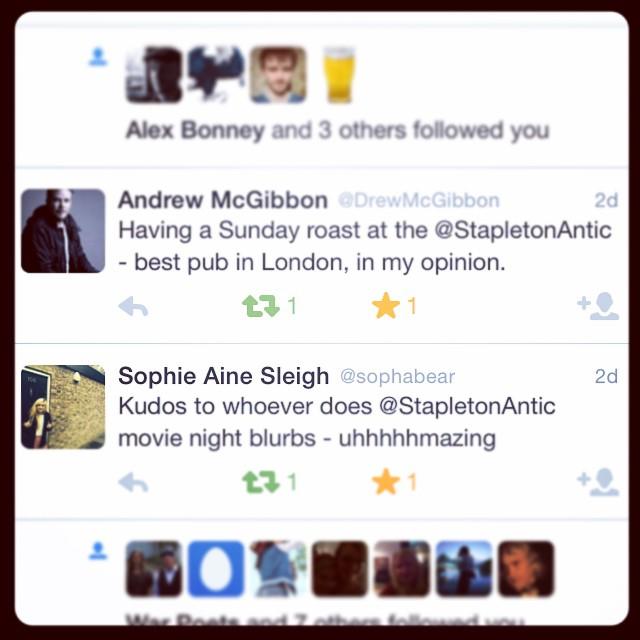 Are you following us on #Twitter - cos you should be! ????? #pub #bar #london #londonpub #lovelocal #lovelondon #stapleton #stroudgreen #crouchend #crouchhill #finsburypark #camden #callyroad #canonbury #hornsey #holloway #hollowayroad #antic #anticpubs #anticlondon