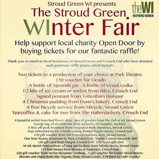 Stroud Green Winter Fair tomorrow at the Stapleton Tavern 12-4pm #craft #vintage #raffle #stalls and #fun !!! #stroudgreen #finsburypark #islington #crouchend #crouchhill #london #timeout #skint #lovelondon #camden #antic #anticlondon @anticlondon @anticevents